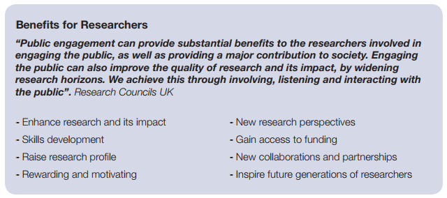 Benefits for researchers of doing PER
